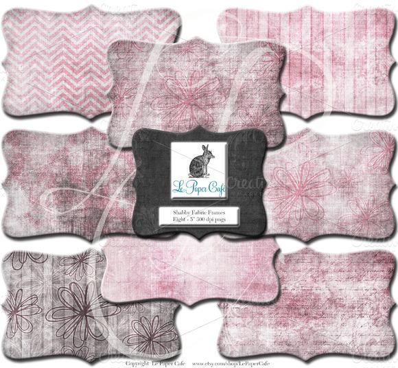 Pink Brown Clipart Digital Frame PNG