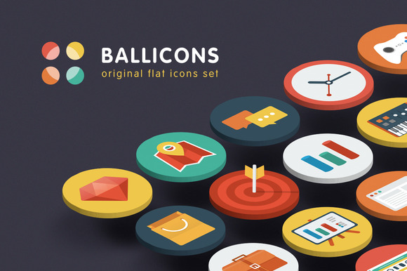 Ballicons Original Flat Icons Set