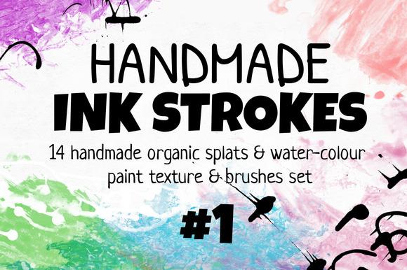 Handmade INK STROKES Pack 14 #1