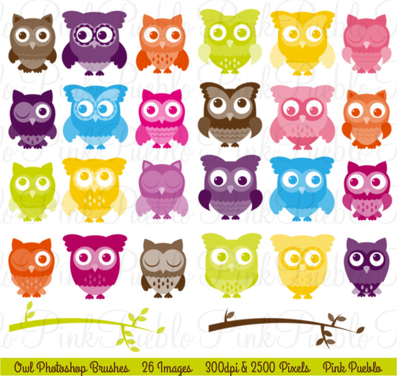 Cute Owl Photoshop Brushes