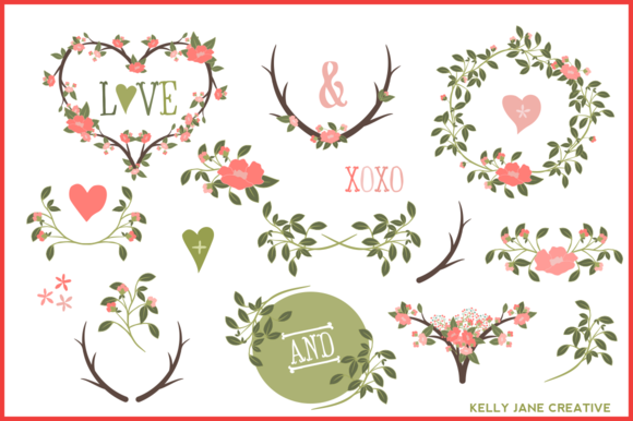 Branches Wreaths Laurels Vector