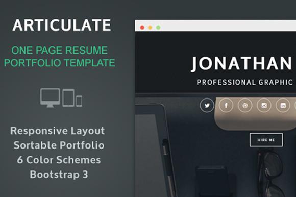 Articulate Resume Portfolio
