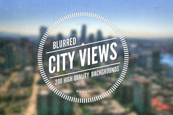50 Blurred City Views