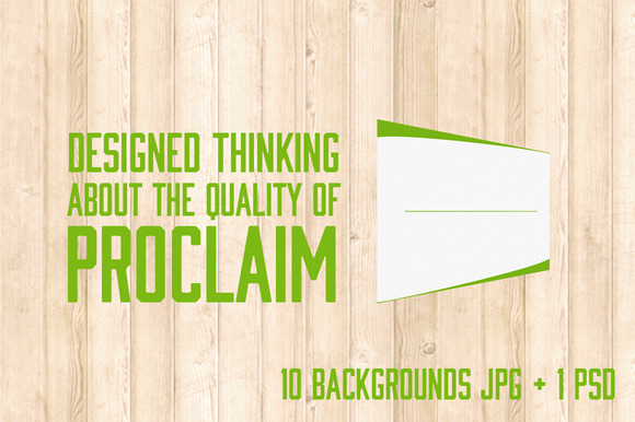 Proclaim 10 Backgrounds