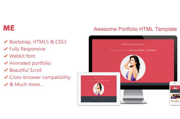 Me-Creative Portfolio HTML Template