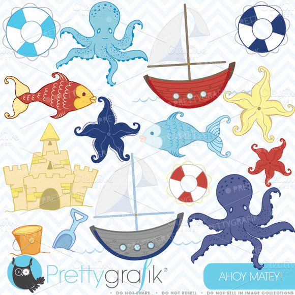 Beach Clipart Commercial Use