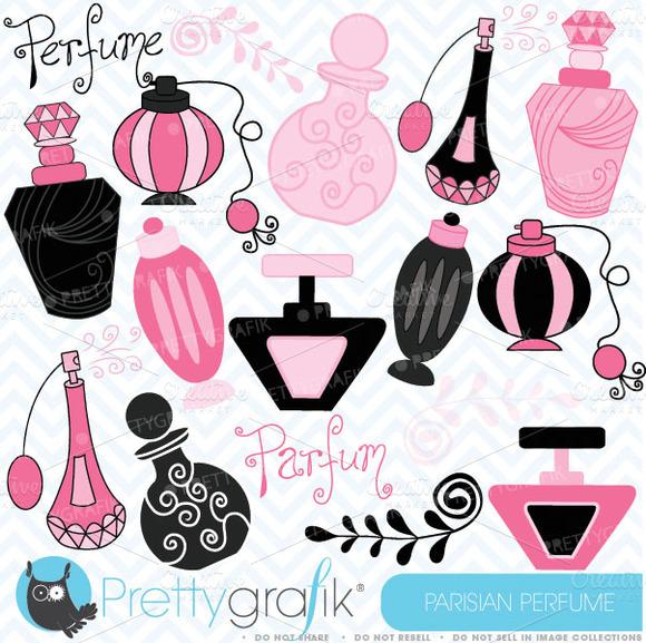 Parisian Perfume Clipart Commercial