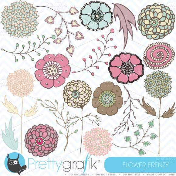 Flower Clipart Commercial Use