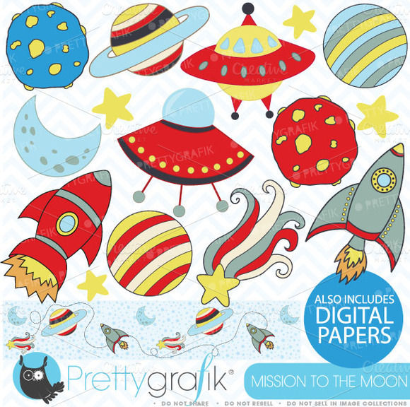 Space Clipart Commercial Use