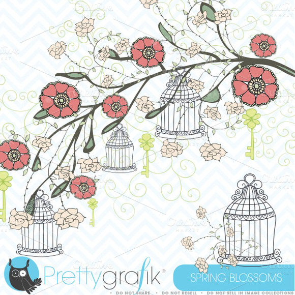Spring Flowers Clipart Commercial