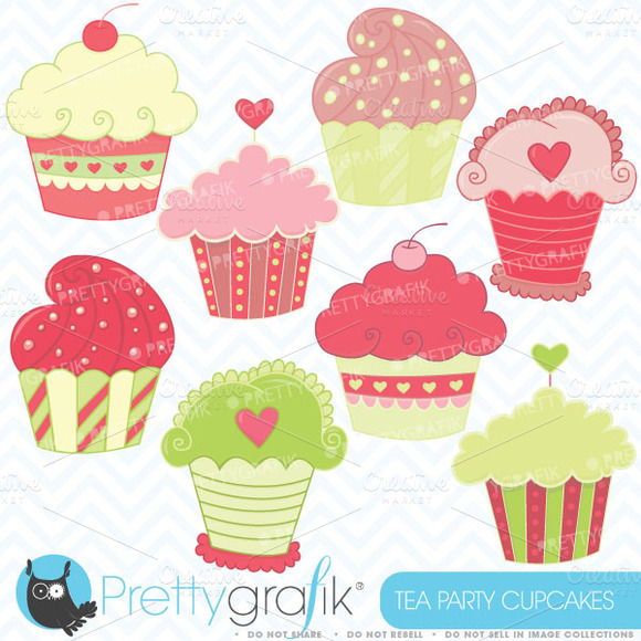 Cupcakes Clipart Commercial Use