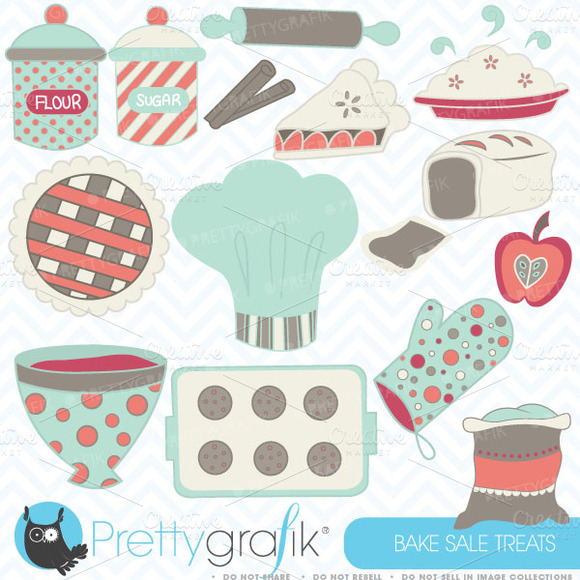 Baking Clipart Commercial Use