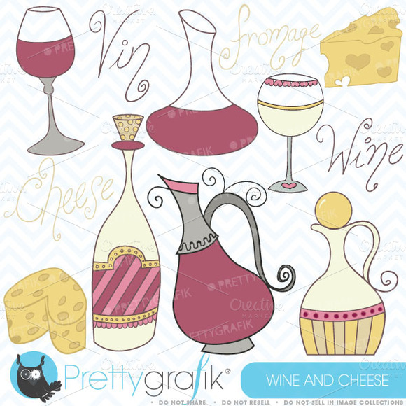 Wine And Cheese Clipart Commercial