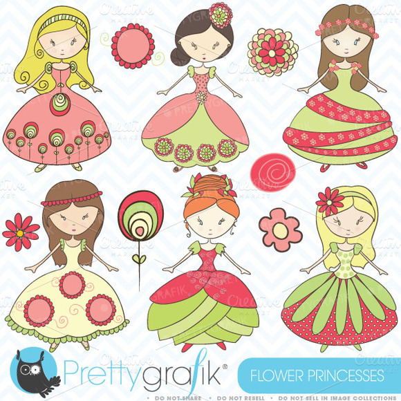 Royal Princesses Clipart Commercial