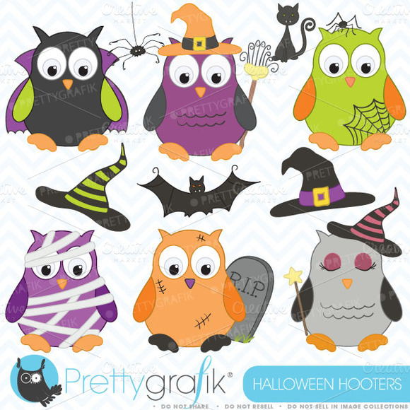 Halloween Owls Clipart Commercial