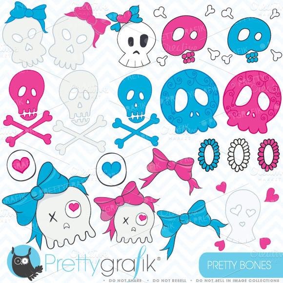 Skull Clipart Commercial Use