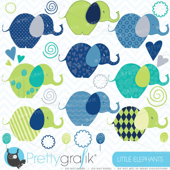 Elephants Clipart Commercial Use