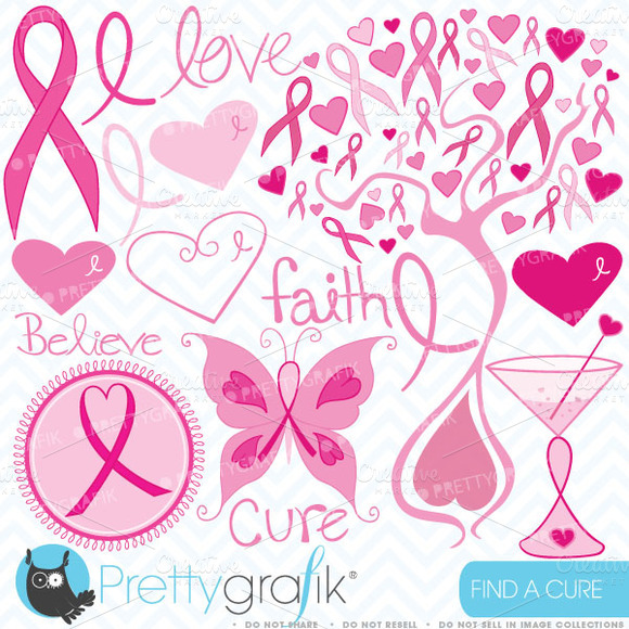Breast Cancer Clipart Commercial Use