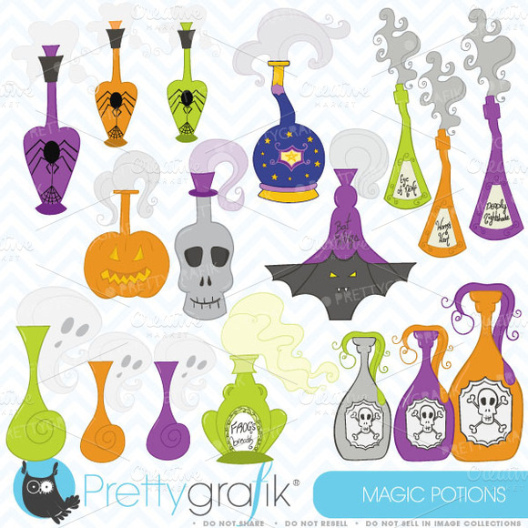 Halloween Potions Clipart Commercial