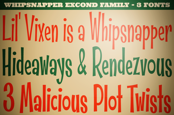 Whipsnapper Extra Condensed Family