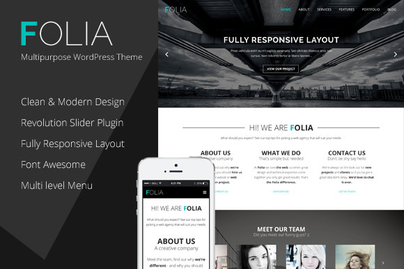 Folia Multipurpose WordPress Theme