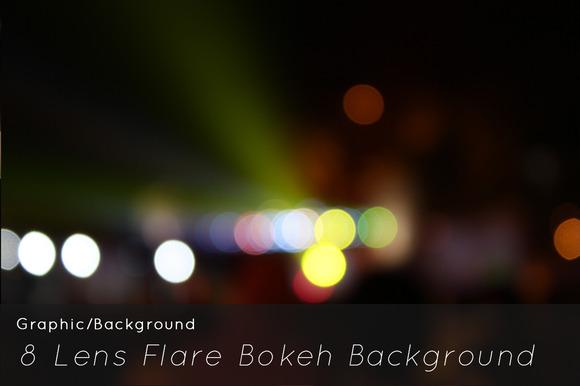 8 Lens Flare Bokeh Background