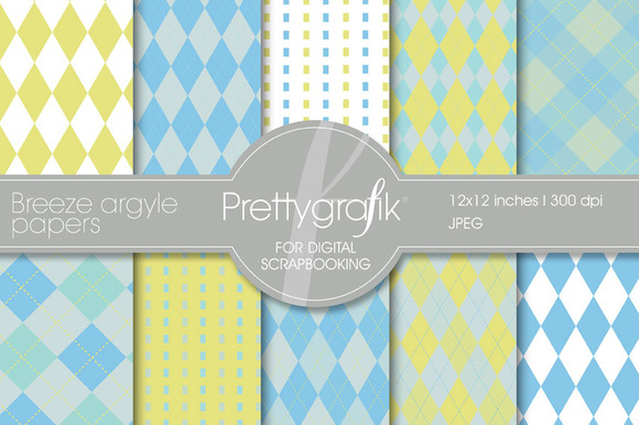 Breeze Argyle Digital Paper