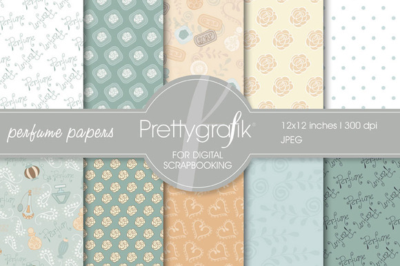 Perfume Digital Paper Commercial