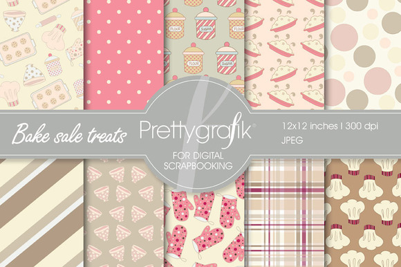 Bake Sale Treats Digital Paper