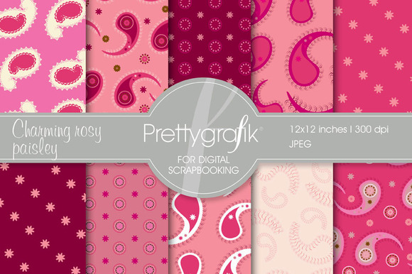 Paisley Digital Paper Commercial