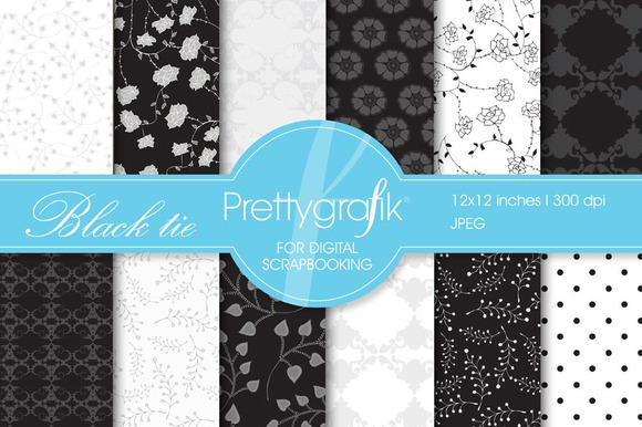 Black Tie Digital Paper Commercial
