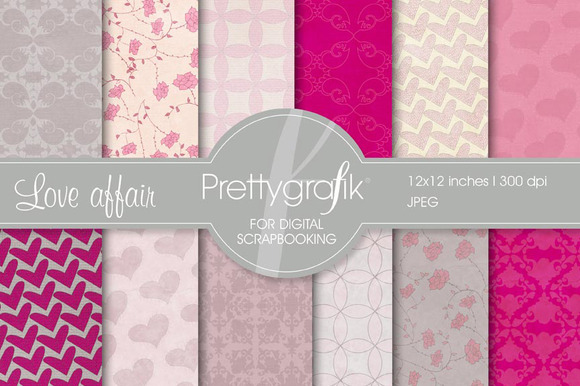 Heart Digital Paper Commercial Use
