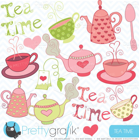 Teapot Clipart Commercial Use