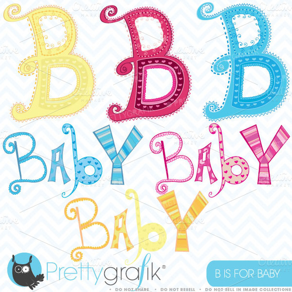 Baby Alphabet Letter Art Commercial