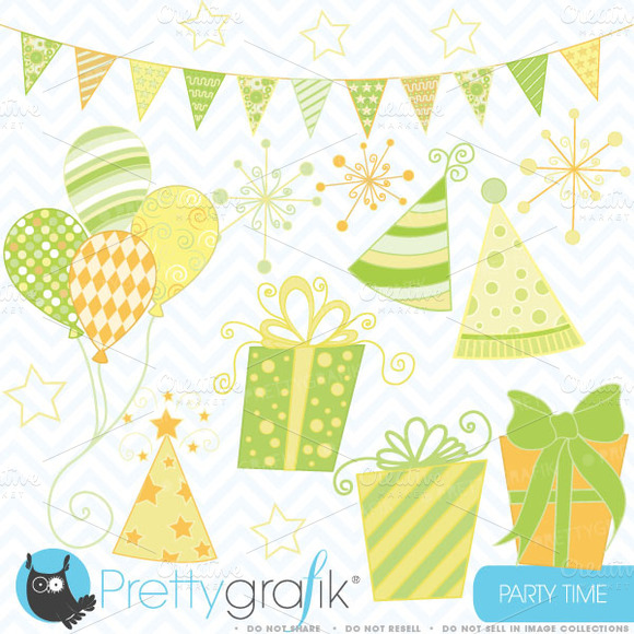 Party Time Clipart Commercial Use