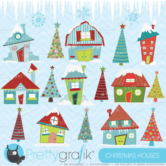 Christmas House Clipart Commercial
