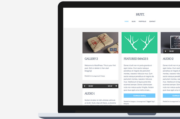 Hutt Blog Theme