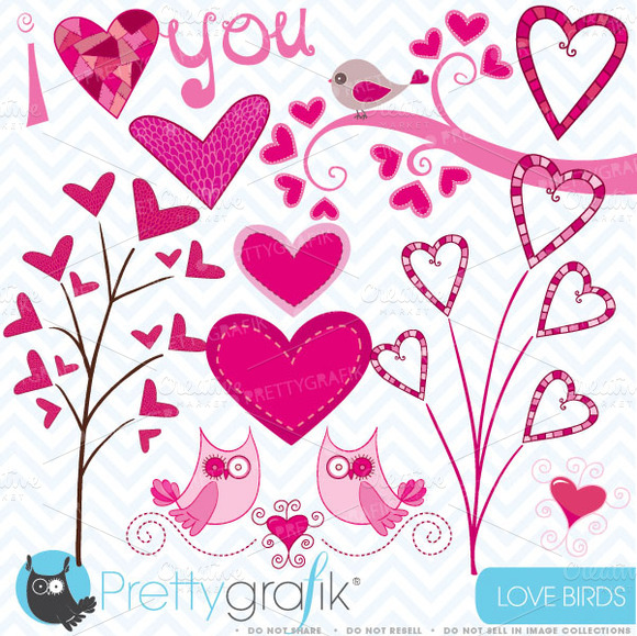 Valentine Hearts Clipart Commercial