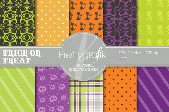 Halloween Digital Paper Commercial