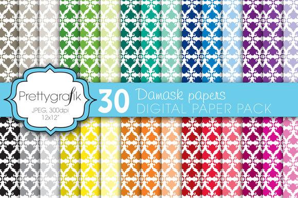 Damask Digital Paper Commercial Use