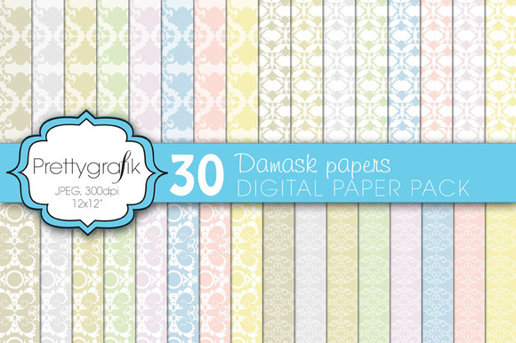 Damask Digital Paper Commercial Use