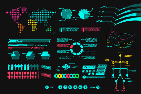 Futuristic Infographics