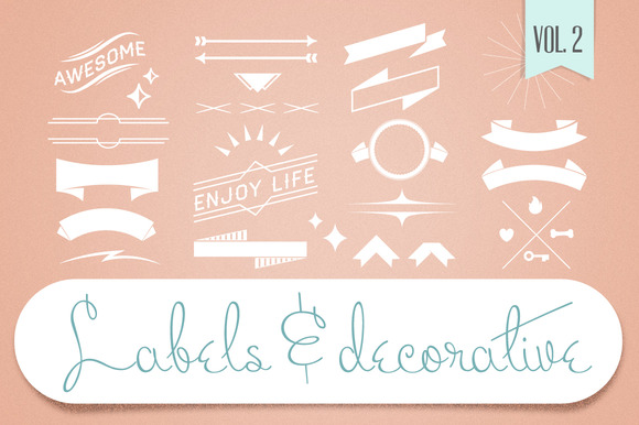 Labels Decorative Vectors Vol.2