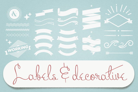 Labels Decorative Vectors