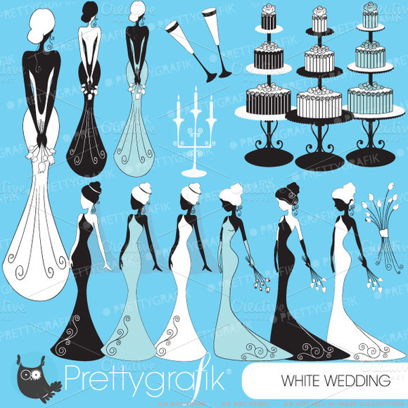 Bride Wedding Clipart Commercial Use