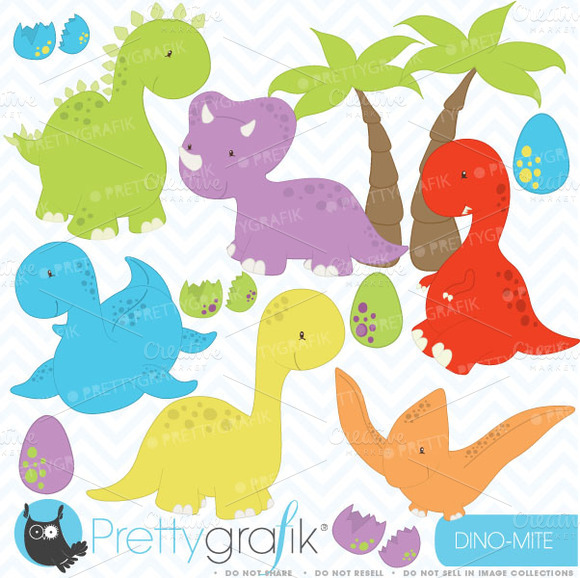 Dinosaur Clipart Commercial Use