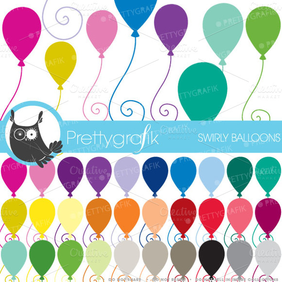 Balloons Clipart Commercial Use