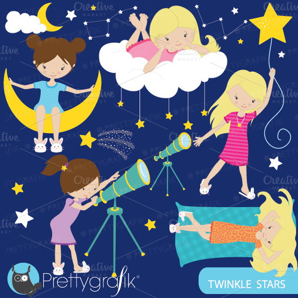 Star Gazing Astronomy Clipart