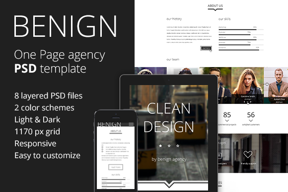 Benign Agency PSD Template