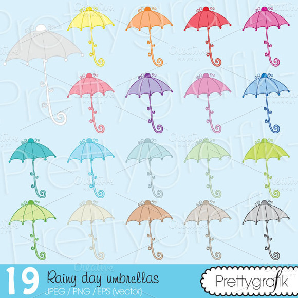 19 Umbrella Clipart Commercial Use